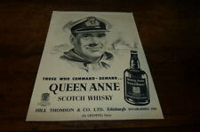 QUEEN ANNE - SCOTCH WHISKY - Publicité de presse / Press advert 1956 !!
