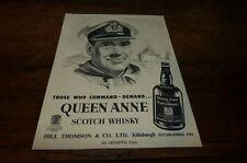QUEEN ANNE - SCOTCH WHISKY - Publicité de presse / Press advert 1956 !!