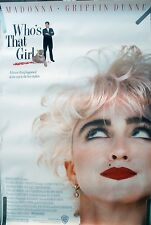 RARE MADONNA WHO'S THAT GIRL 1987 VINTAGE ORIGINAL MOVIE POSTER
