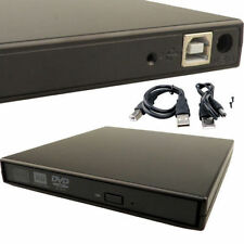 NEW External Black USB Slim 8x DVDRW DL DVD CDRW Burner Writer Drive PC and Mac