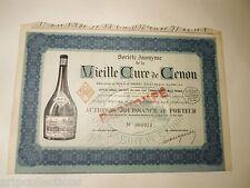 1935 LIQUEUR VIEILLE CURE DE CENON ACTION DE JOUISSANCE