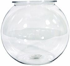 Oscar Plastic Bowl Round 1.5 Gallon Clear Crystal Aquariums Fish Water