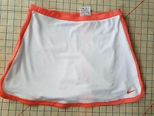 NIKE Dri-Fit Tennis Skort Womens size XL  White Orange Trim Athletic Skirt