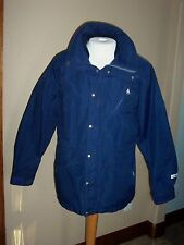 Vintage USA NORTH FACE  Mens M Brown Tag Gore Tex Full Zip Parka Dark Blue