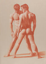 MALE NUDES in Terracotta Limited Edition GAY ART INTEREST PRINT