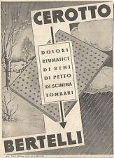 Y3160 Cerotto BERTELLI - Pubblicità del 1939 - Old advertising