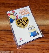 Variety The Children's Hospital Despicable Me Minion Heart Pin With Safety Pin