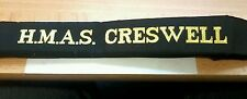 HMAS CRESWELL Cap Tally Cap Ribbon ROYAL AUSTRALIAN NAVY