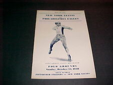 1940 NY GIANTS VS PHILA. EAGLES F/B PROGRAM