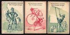 LOT/3 REINBOLD & MARSH'S TAR COUGH DROPS*WALLPAPERER*MONKEY ON DRUM*DON QUIXOTE