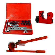 METRIC BRAKE PIPE FLARING KIT FUEL REPAIR TOOL SET WITH BENDER+TUBE CUTTER UK