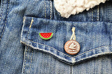Watermelon pin - enamel watermelon fruit brooch lapel badge pin