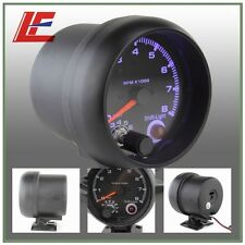 "3 3/4"" Universal Black color 0-8000 rpm gauge with inter shift light/Auto gauge/"
