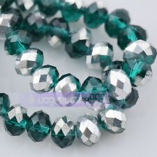 164 Colors 50pcs Rondelle 6mm Faceted Crystal Glass Loose Spacer Beads Lot