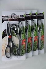 Black scissors Kitchen 8 pcs, cuchillos cocina, Steel Fish Chicken Bone Serrate