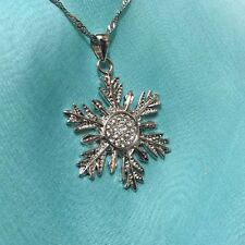 Once upon a time, Anna's frozen snowflake pendant necklace