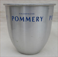 Vintage French Aluminum Champagne Ice Bucket Cooler Pommery