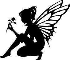 Die Cut Silhouette KNEELING FAIRY topper x 6 for cardmaking, Fairy Jars, crafts