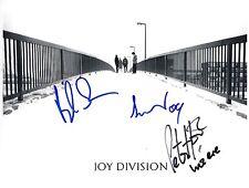 Joy Division SIGNED Photo 1st Generation PRINT Ltd  No'd + Certificate / 1