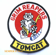 AUTHENTIC EMBROIDERED VF-101 GRIM REAPERS TOMCAT PATCH F-14 US NAVY USS NAS WOW