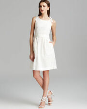 BURBERRY BRIT $595 white crochet eyelet lace Mollorie sun dress 48-IT/14-US NEW