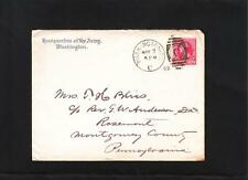 Headquarters US Army Washington DC General Tasker Bliss to Mrs 1892 Cover z79