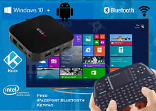 intel Windows 10 + Android dual boot quadcore smart TV media player box 2g/32g
