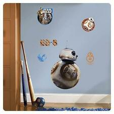 STAR WARS VII FORCE AWAKENS Official GIANT BB-8 Droid Peel/Stick WALL DECAL Set