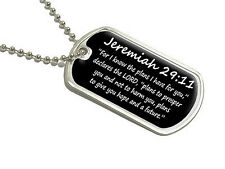 Jeremiah 29-11 - For I know the plans - christian - Military Dog Tag Keychain