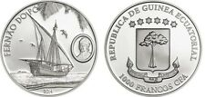 2014 Equatorial Guinea Large Silver Proof 1000 Francos Fernao do Po/Sailing Ship
