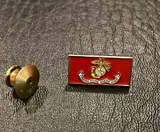 USMC Flag Lapel Hat Pin Back Locking Device. Marine Corps EGA. Measures 3/4 inch