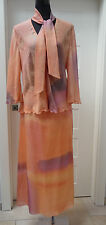 neuw. GIVENCHY Abendkleid Gr. 40 44W Zweiteiler Rock Bluse Seidenkleid US 14W