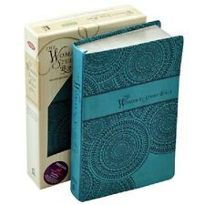 ** NKJV Woman's Study Bible ** Personal Size: Leathersoft Peacock Blue  NEW! 796