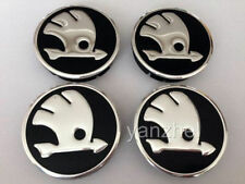 SKODA Wheel Center Centre Hub Caps Alu Logo Emblem 60/55mm Set of 4pcs