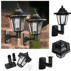 1X  LED SOLAR POWERED WALL LANTERNS WALL LIGHT LAMP OUTDOOR GARDEN FENCE DOOR US