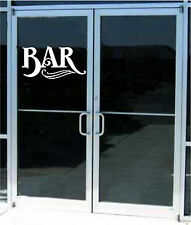 Bar Business Sign Vinyl Decal Sticker Sign Window Door Glass Decor