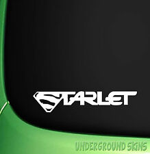 SUPER STARLET x2 CAR STICKER STARLET GT EP82 EP91 GLANZA 4EFTE TURBO
