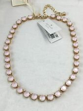 "NEW Kate Spade New York 21"" Fancy That Light Pink Statement Necklace Auth $178"