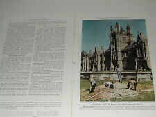 1943 magazine article on Sydney Australia, WWII, Color photos