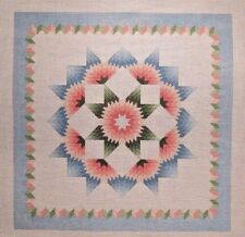 Susan Roberts Carnation Star Quilt Pattern Handpainted Needlepoint Canvas