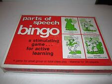1976 PARTS OF SPEECH BINGO GAME IN THE BOX - TUB MMMM