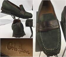 Cole Haan Loafers Shoes 8 B Women Green Suede Made in India Worn Once YGI M