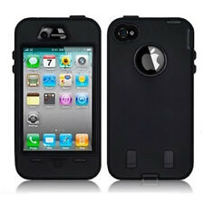 Black Shock Proof Armoured Hard Case Rubber Gel Skin Cover For Apple iPhone 5 5S