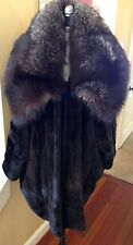 JOHN GALLIANO CHRISTIAN DIOR GIVENCHY MINK FOX FUR COAT MUSEUM COLLECTORS BROWN