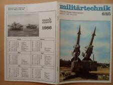 MILITÄRTECHNIK 6/1985 * Pistole CZ 75 Ural 4320 Schützenpanzer Schiffsbrücken