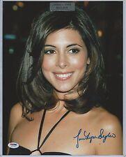 Jamie-Lynn Sigler Leaf Pop Century The Sopranos Autograph 11x14 Photo PSA/DNA