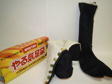 NINJA  Boots. Yaruki tabi. Japan NINJA Costume.Size 27.0cm.Color Black.