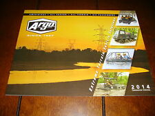 2014 ARGO AMPHIBIOUS EXTREME COMMERCIAL VEHICLES ***DEALER BROCHURE 16 PAGES***