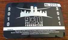 911 Police Aid Foundation Courtesy Card (2010-2011) w/ Serial# & 10 Step Guide