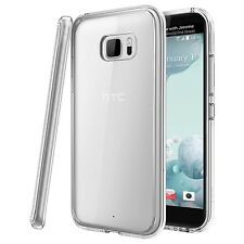 For HTC U Ultra - Tough Thin Clear TPU Gel Case Cover Skin
